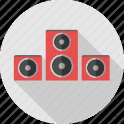 audio, instrument, music, music system, sound, sound system, speaker icon
