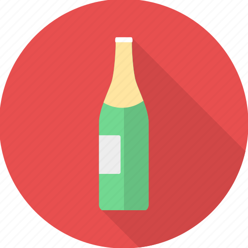 alcohol, beer, bottle, champagne, drink, party, wine icon