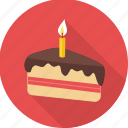 birthday, cake, candle, dessert, happy birthday, pastry, sweet icon