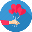 date, heart, love, romance, romantic, stick, valentine icon