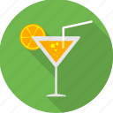 cocktail, drink, glass, juice, lemon, party, welcome drink icon