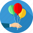balloon, balloons, birthday, celebrate, celebration, decoration, party icon
