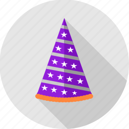 birthday, cap, celebration, cone, decoration, hat, party icon