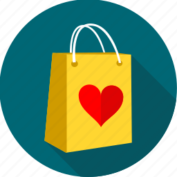 bag, gift, love, romantic, shop, shopping, valentine icon