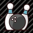 alley pins, bowl pins, bowling, bowling game, game, hitting pins, skittles icon