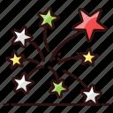celebration, firework, party celebration, sparklers, stars
