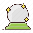 forecast, fortune ball, fortune glass, magic ball, magic globe, orbuculum, prediction icon