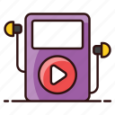 audio music, mp3, mp3 player, music, music player, player, portable device icon