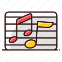 note, eighth note, music, music note, melody, quaver icon