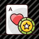 card game, quiz game, poker, playing cards, gambler icon