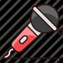 electronic mic, input device, karaoke, mic, singing, singing mic icon