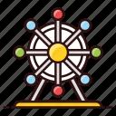 amusement park, carnival, fairground, ferris wheel, funfair, skywheel icon