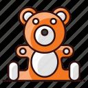bear, soft toy, stuffed teddy bear, stuffed toy, teddy, teddy bear, toy icon