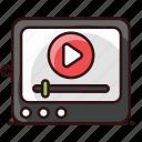 internet video, multimedia, online video, play video, streaming, video, video streaming icon