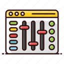 music equalizer, music volume, sound adjuster, volume adjuster, volume controller, volume equalizer icon