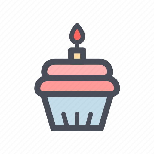 birthday, cake, celebrate, color, entertain, happy, party icon