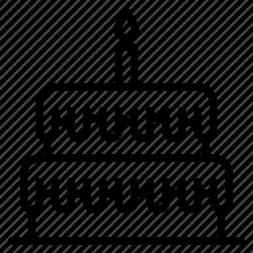birthday, cake, party, sweet icon