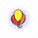 air, balloon, birthday, comics, heart, orange, red icon
