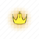 comics, crown, golden, king, queen, royal, royalty icon
