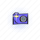 camera, comics, equipment, lens, photo, photography, technology icon