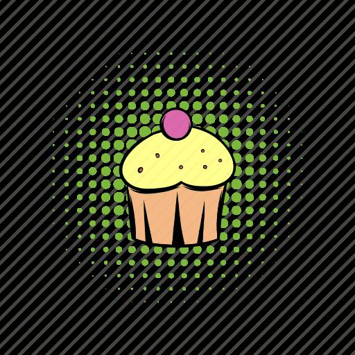 cake, comics, cupcake, day, dessert, food, sweet icon