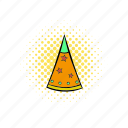 birthday, celebration, comics, cone, fun, hat, party icon