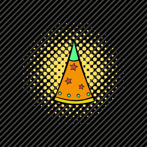 birthday, celebration, comics, cone, fun, hat, party icon