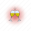 alcohol, beverage, comics, drink, glass, vine, wine icon