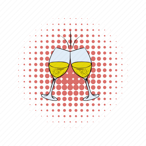 alcohol, beverage, comics, drink, glass, vine, wine icon