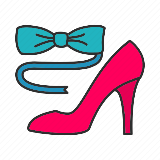 Accessory, bow, footwear, high heel, necktie, shoe, tie icon - Download on Iconfinder