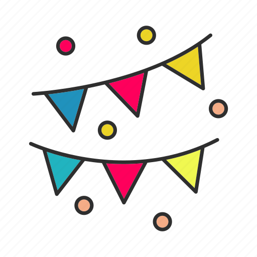 Accessory, celebration, decor, decoration, garland, holiday, party icon - Download on Iconfinder