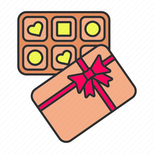 Box, candy, chocolate, confection, pack, present, sweets icon - Download on Iconfinder