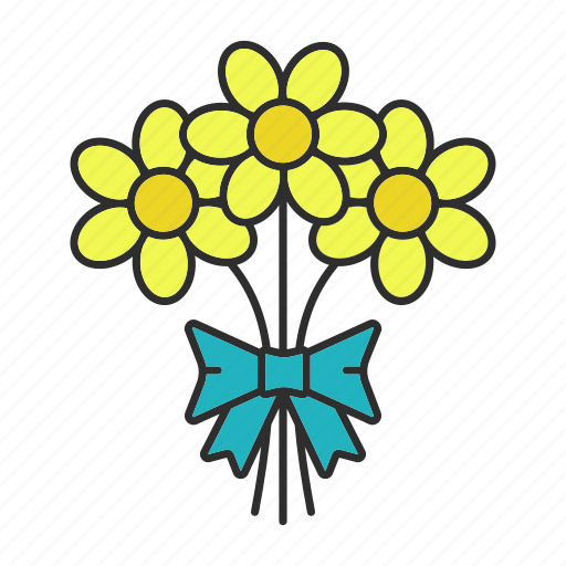 Bouquet, bunch, floral, flower, gift, party, present icon - Download on Iconfinder