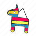 candy, children, game, holiday, horse, party, pinata