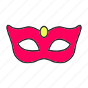 ball, carnival, costume, holiday, mask, masquerade, party icon
