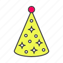 accessory, birthday, cap, cone, hat, holiday, party icon