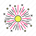 elebration, festive, firecrackers, firework, holiday, party, pyrotechnics icon