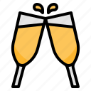 alcohol, celebration, cheers, party, wine icon