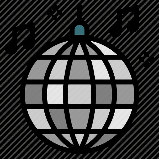 ball, dance, disco, music, party icon