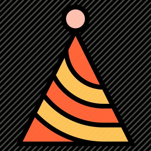 birthday, celebation, fun, hat, party icon
