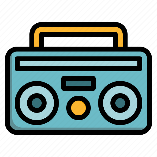 electricity, music, party, radio, song icon