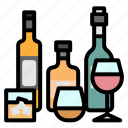 party, alcohol, beverage, glass, bottle