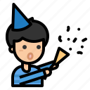 party, celebration, confetti, birthday, xmas, boy, new year