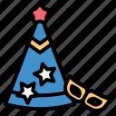 party, celebration, hat, mask, fancy, birthday, new year