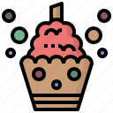birthday, cake, candles, food, party, restaurant icon