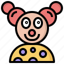 circus, clown, fairground, fun, jobs, professions icon