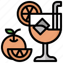 alcohol, cocktail, drinking, food, leisure, party, straw icon