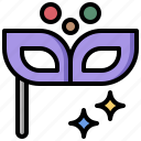 celebration, costume, masquerade, mystery, party, signs icon