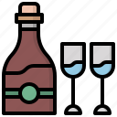 alcohol, celebration, champagne, food, glass, party, toast icon