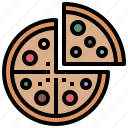 fastfood, fat, food, pizza, restaurant, salami icon